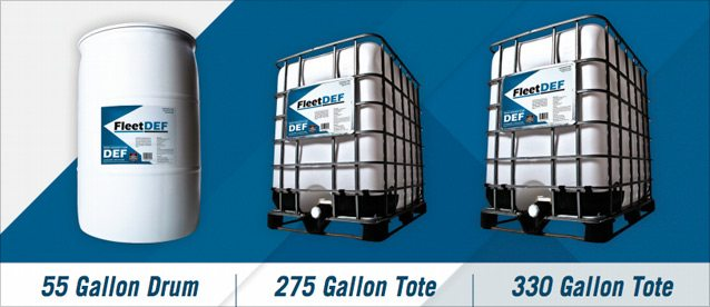 FleetDEF Diesel Exhaust Fluid - Available in 55 Gallon Drum, 275 Gallon Tote, and 330 Gallon Tote
